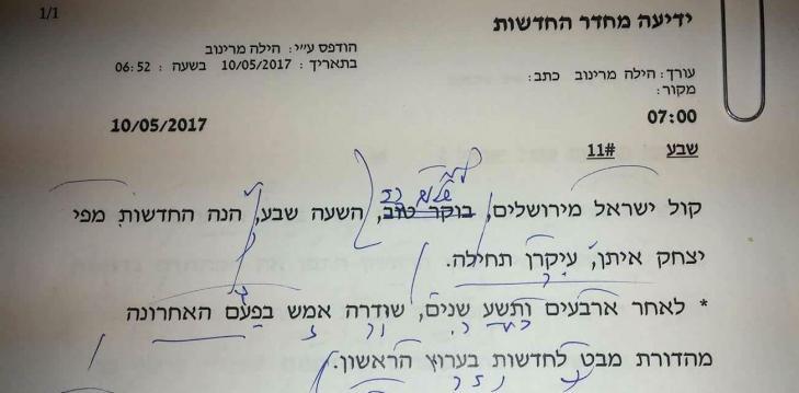 קול ישראל מירושלים (צילום באדיבות הילה מרינוב, רשות השידור)