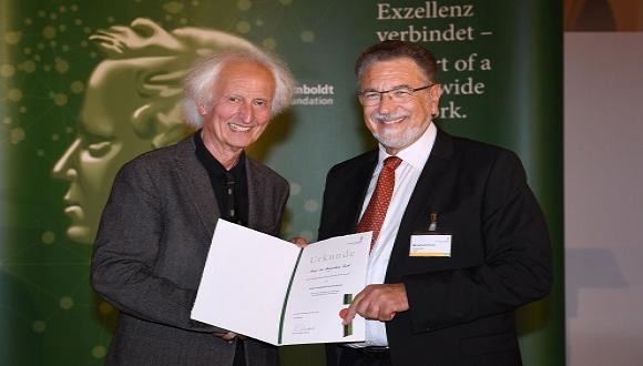 ברכות לפרופ' מנחם פיש על זכייתו בפרס פון הומבולדט ועל קבלת תואר דוקטור לשם כבוד